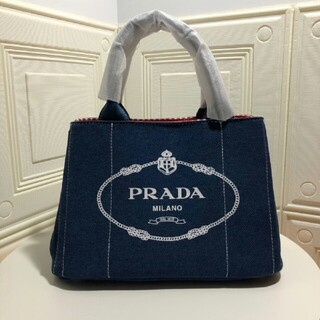 PRADA - PRADA プラダ カナパ NERO ブルー トートバッグ ショルダー