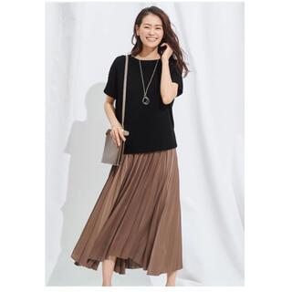 23区 - 【洗える】23区 美品 サテンプリーツスカート 春夏 プリーツスカート