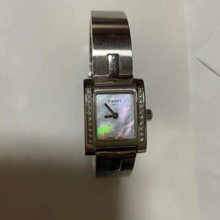 ティソ(TISSOT)のティソレディース時計ダイヤモンドシェル外観美品訳あり(腕時計)