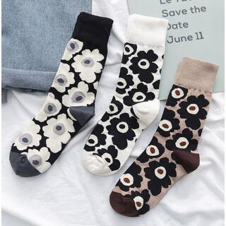 【3足セット】マリメッコ柄 靴下 大人気 SNS映え 北欧デザイン