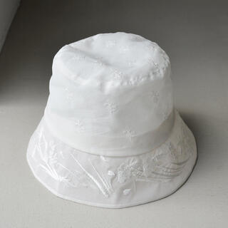 mame - mame☆Floral Embroidered Bucket Hat☆新品未使用