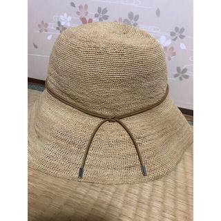 りん様専用  chapeau d' o カシラ CA4LA 麦わら帽子 (麦わら帽子/ストローハット)