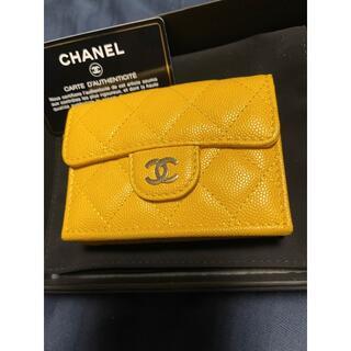 CHANEL - CHANEL❤︎キャビアスキン  コンパクトウォレット 三つ折り財布
