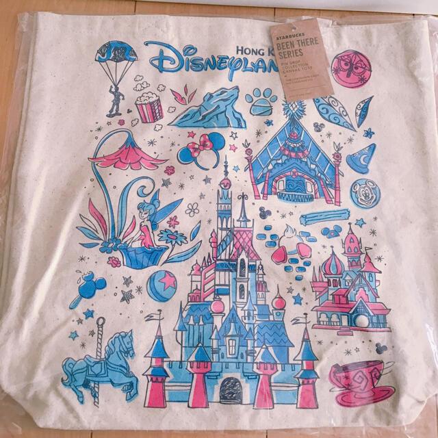 Disney(ディズニー)の香港ディズニーランド限定15周年記念スタバックストートバッグ エンタメ/ホビーのおもちゃ/ぬいぐるみ(キャラクターグッズ)の商品写真