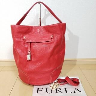 Furla - 未使用 FURLA レザー2wayショルダーバッグ バケツ型 赤