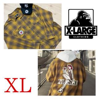 XLARGE - 美品 完売品 大人気エクストララージ チェックシャツ ネルシャツ XL