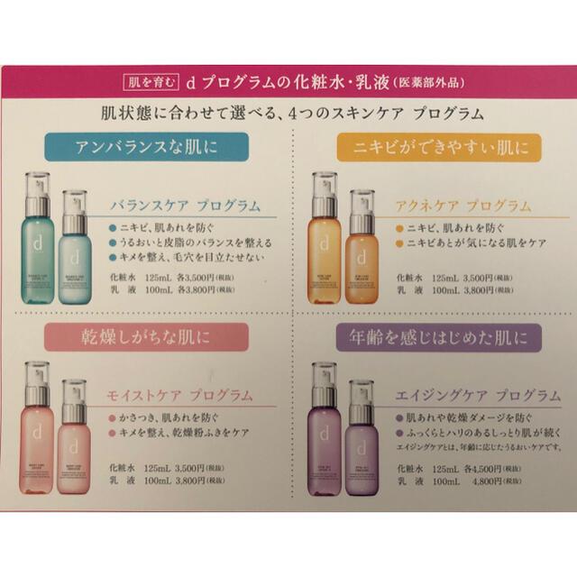 d program(ディープログラム)のdプログラム  【アクネケア】化粧水・乳液 5セット コスメ/美容のスキンケア/基礎化粧品(化粧水/ローション)の商品写真