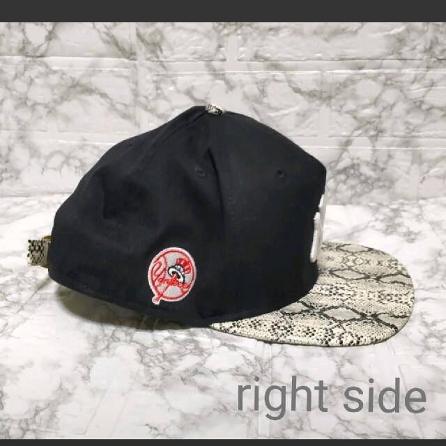 NEW ERA(ニューエラー)のNEW ERA  パイソン キャップ snap back black ニューエラ メンズの帽子(キャップ)の商品写真