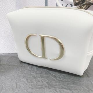 Dior - Christian Dior ディオール ノベルティ ロゴ ポーチ ホワイト