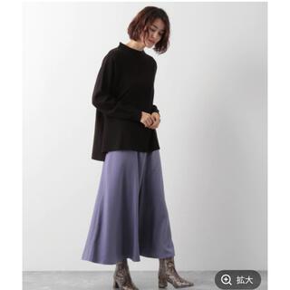 LEPSIM - LEPSIM サテンフレアスカート  新品タグ付き