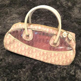 クリスチャンディオール(Christian Dior)のChristian Dior トロッター柄 ビニールバッグ (ハンドバッグ)