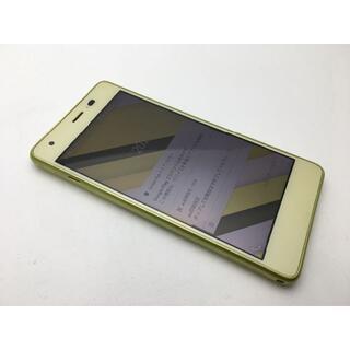 キョウセラ(京セラ)のSIMフリー美品au Qua phone QZ KYV44 シトラスレモン89(スマートフォン本体)