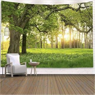 金具一式付きタペストリー【94】 涼しい 森林  模様替え 癒し