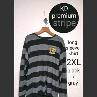 アヴァランチ(AVALANCHE)のKRYHYME DENIM premium ボーダーロンT クライムデニム2XL(Tシャツ/カットソー(七分/長袖))