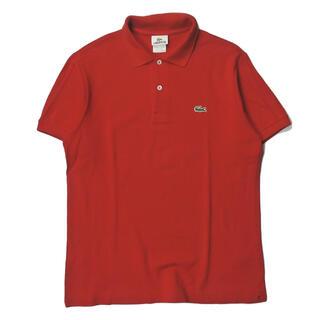 ラコステ(LACOSTE)のLACOSTE ロゴ刺繍 コットン鹿の子ポロシャツ 5191L 3 レッド(ポロシャツ)