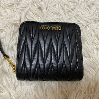 miumiu - miumiu マットラッセ 二つ折り財布