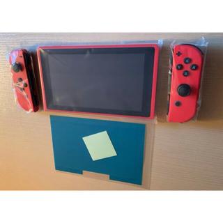 Nintendo Switch - 任天堂Switch マリオレッド×ブルー本体画面 Joy-Con 画面保護シール