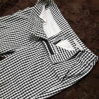 ストラ(Stola.)のstola. 7分丈パンツ ストラ ギンガムチェック クロップドパンツ サブリナ(カジュアルパンツ)