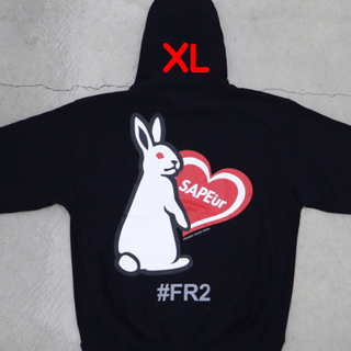 SAPEur×FR2 HEART RABBIT HOODIE【RED】