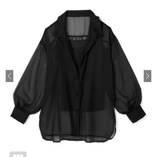 GRL - GRL シースルーシャツ ブラック