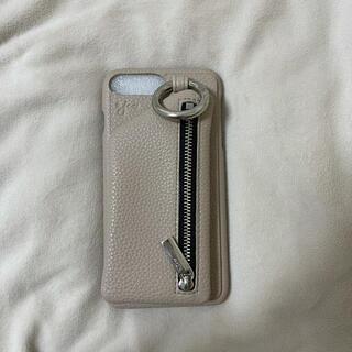 iPhone - 【美品・完売商品】ajew エジュー ベージュ iPhone8plus ケース