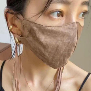 TODAYFUL - ★TODAYFUL(トゥデイフル)★Dyed Linen Mask モカ F★