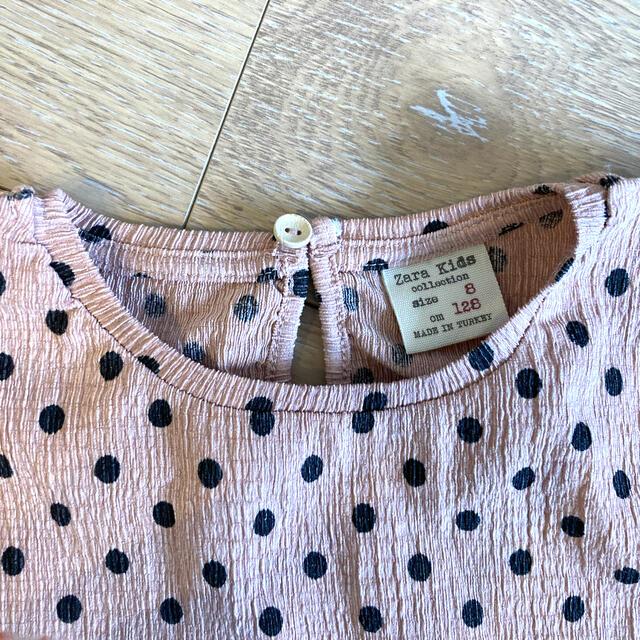 ZARA KIDS(ザラキッズ)のZALA 長袖Tシャツ 約130 女の子 キッズ/ベビー/マタニティのキッズ服女の子用(90cm~)(Tシャツ/カットソー)の商品写真