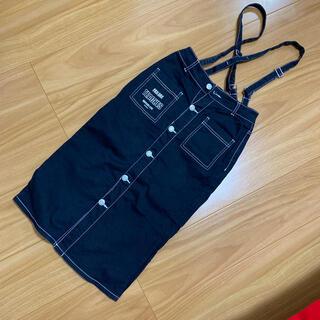 ラブトキシック(lovetoxic)のlovetoxicブラックサスペンダー付きタイトロングスカート☆Sサイズ(スカート)