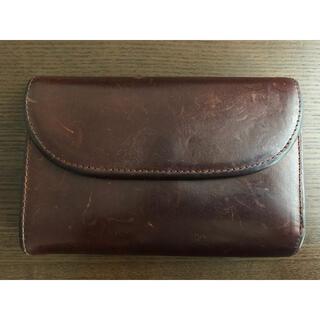 ホワイトハウスコックス(WHITEHOUSE COX)のセトラー SETTLER 三つ折り財布 ブラウン 茶色(折り財布)