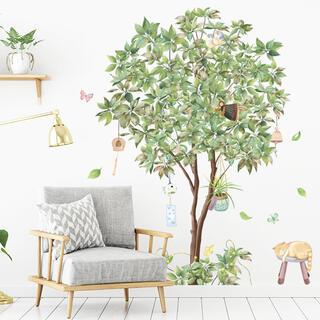 M138ウォールステッカー【幸せの木】植物 剥がせるシート DIYインテリア壁紙