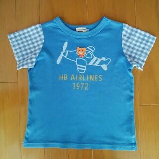 HOT BISCUITS - ホットビスケッツ Tシャツ 半袖 綿100% サイズ100 のりもの ミキハウス