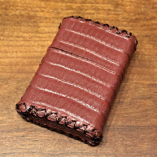 ジッポー(ZIPPO)の[本革] zippo用 レザーカバー  革ケース 革巻き リザード柄(タバコグッズ)