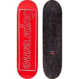 Supreme - Supreme Kaws Chalk Logo skateboard Red