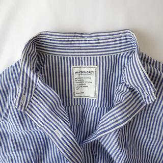 メイソングレイ(MAYSON GREY)のMAYSON GREY  ストライプシャツ チェックシャツ(シャツ/ブラウス(長袖/七分))