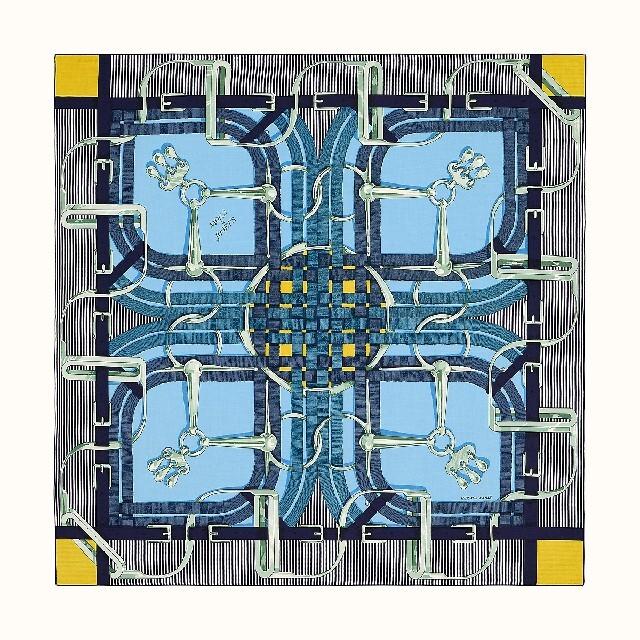 Hermes(エルメス)のエルメス│カレジェアン 140 カシミア シルク 大判ショール タグ付き│未使用 レディースのファッション小物(ストール/パシュミナ)の商品写真