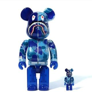 メディコムトイ(MEDICOM TOY)のBE@RBRICK CLEAR CAMO SHARK 100% & 400%(その他)
