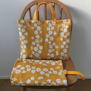 花、チョウチョ レッスンバッグ、上履き袋(バッグ/レッスンバッグ)