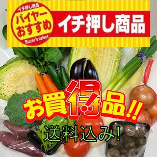 野菜好きの方へ‼︎お買い得新鮮野菜詰め合わせ100サイズ箱満タン‼︎
