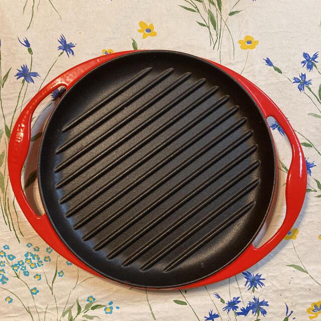LE CREUSET(ルクルーゼ)のル・クルーゼ グリルパン26センチ インテリア/住まい/日用品のキッチン/食器(鍋/フライパン)の商品写真