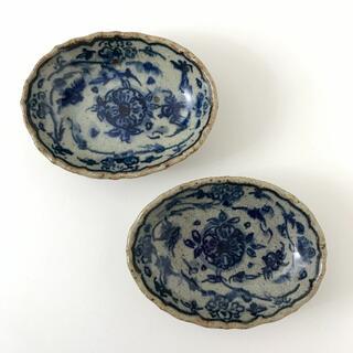 【未使用】イムサエム 染付小皿 2枚