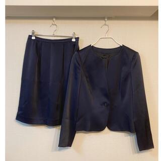 ANAYI - アナイ バックサテンジョーゼットスーツ スカートスーツ セットアップ