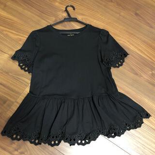 kate spade new york - ケイトスペード フリルTシャツ ブラック S