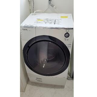 SHARP - SHARP ES-Z110-WR ドラム式 洗濯機 シャープ 乾燥機
