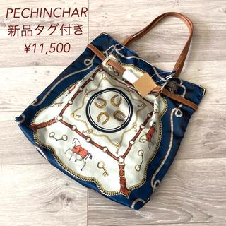 SCOT CLUB - ●新品 nouer PECHINCHAR スカーフ柄トートバッグ ネイビー●