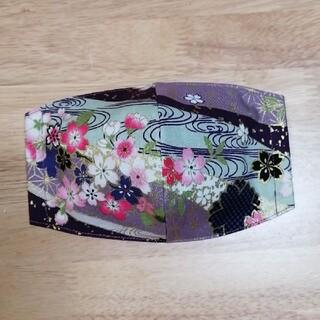 ⑰和柄・桜のインナーマスク(ハンドメイド)