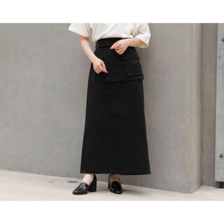 ページボーイ(PAGEBOY)のPAGEBOY エプロンポケットミリタリースカート(ひざ丈スカート)