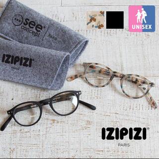 ゾフ(Zoff)のIZIPIZI  度なし伊達メガネ BLACK  大人気完売商品(サングラス/メガネ)