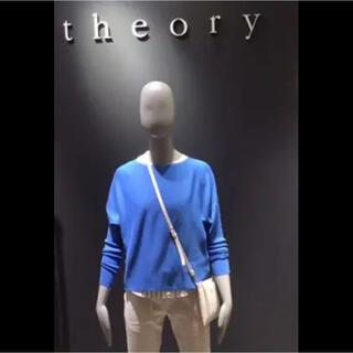 セオリー(theory)のtheory セオリー ドルマンスリーブ ニット ブルー(ニット/セーター)