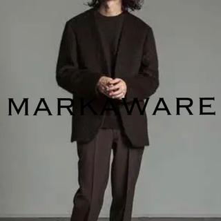 MARKAWEAR - 【週末限定値下】MARKAWARE ブラックアルパカ ノーカラージャケット