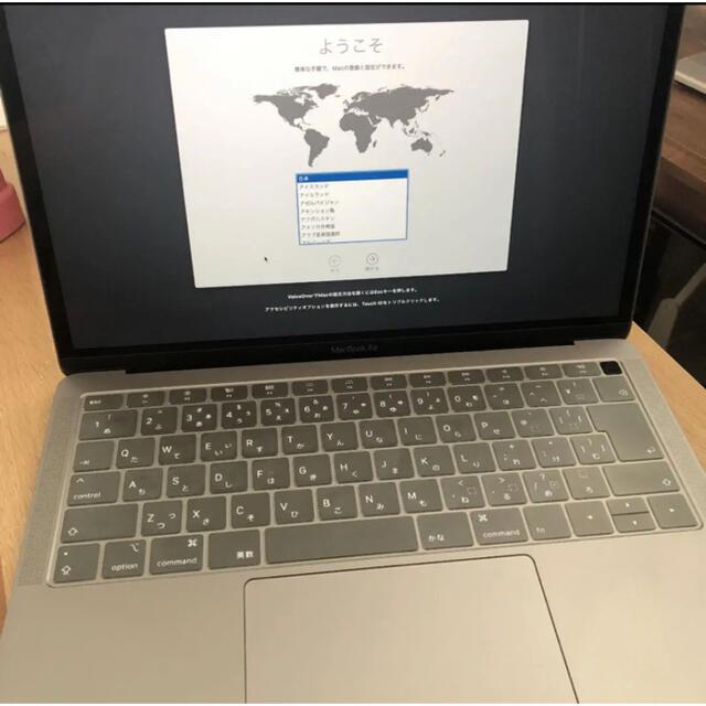 Mac (Apple)(マック)のアップルケア約1年残美品 MacBook Air2018スペースグレー128GB スマホ/家電/カメラのPC/タブレット(ノートPC)の商品写真